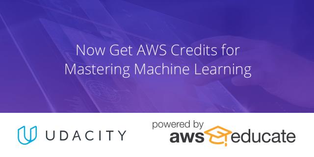 AWS Credits - Machine Learning - Udacity