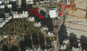 שימו לב למרחק בין בתי הכנסת