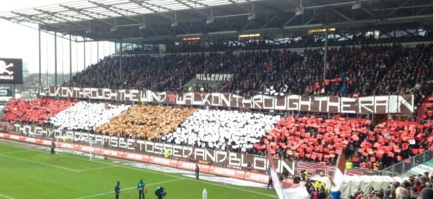 Choreo FC St.Pauli - VfR Aalen, 20.12.2014
