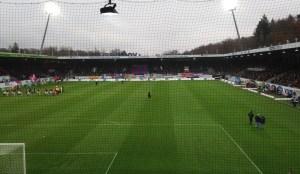 Voith-Arena Heidenheim, Blick aus dem Gästeblock