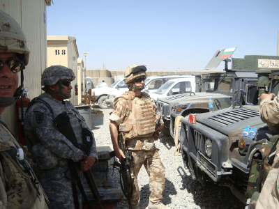 Reservists serving in Afghanistan