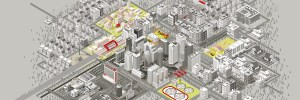 Fujitsu always connected city graphic