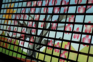 Fujitsu tablet mosaic showing beautiful image