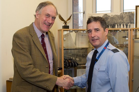 Squadron Leader Dwayne Dawson with Julian Brazier, MP