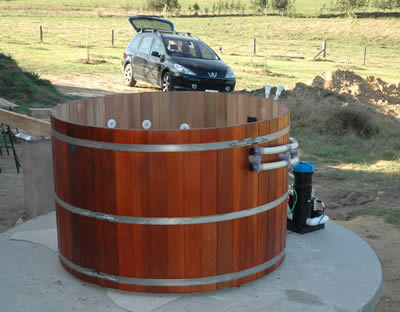 Eight person original cedar hot tub by Ukko Saunas
