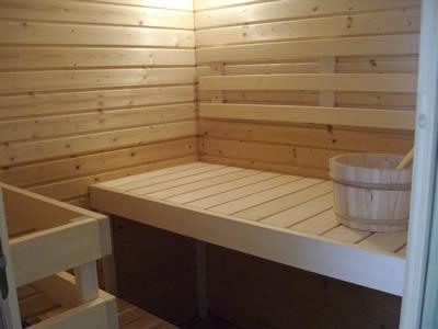 Ukko Saunas - Sauna Kit inside view