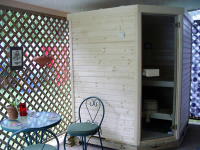 Ukko Saunas Kit under Patio