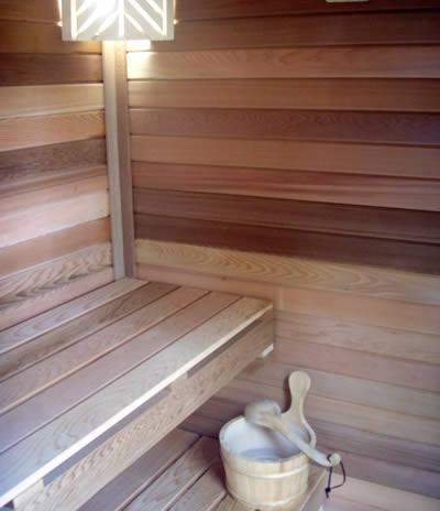 Ukko Log Cedar Sauna From Inside