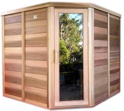 2 x 2m Cedar Log Sauna