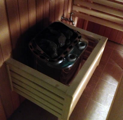 COMBI sauna heater and steamer