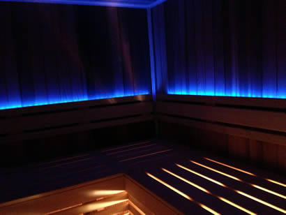 LED sauna mood light