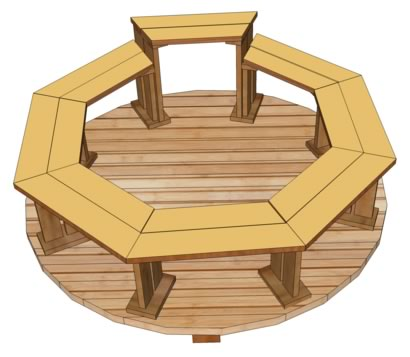 Octagonal benches