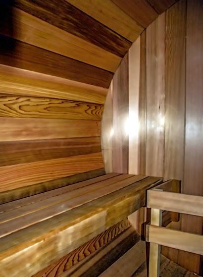 Inside Ukko sauna
