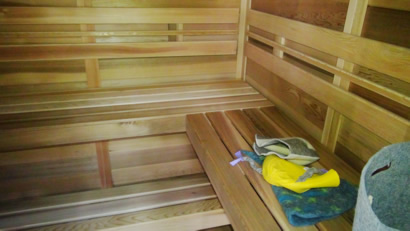Sauna benches L-Shape