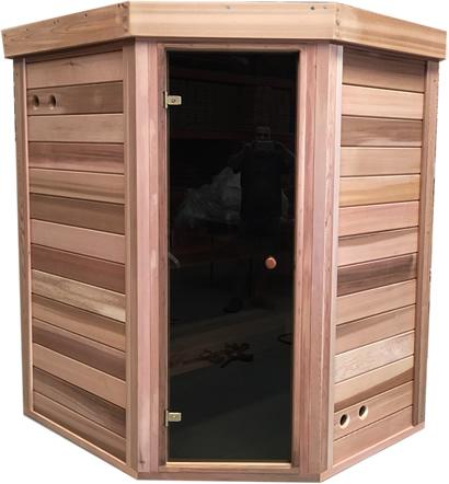 Sauna assembled at factory