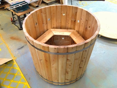 Larch tub assembled