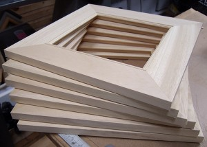 Picture Frame Construction Corner Joining With An