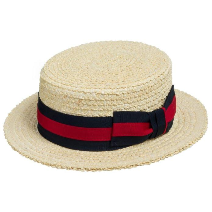 Classic Boater Skimmer Straw Hat