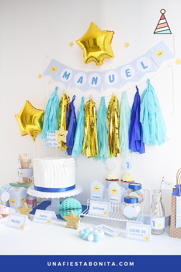 fiesta imprimible primer añito twinkle little star