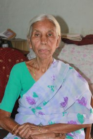 Savitri, a sponsored aging living in Hyderabad, India