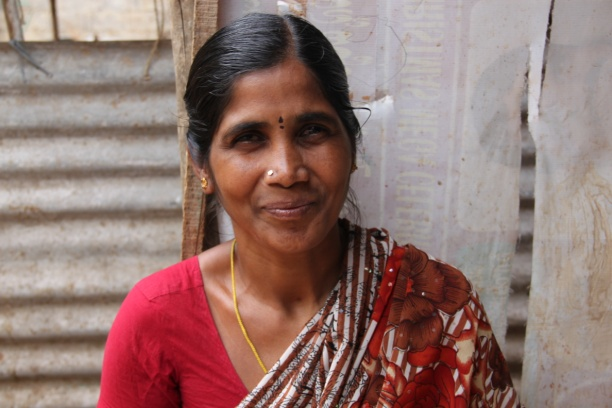 Tirupatamma, mother of a sponsored child in India.