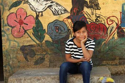 Dayanna, 8, from El Salvador.