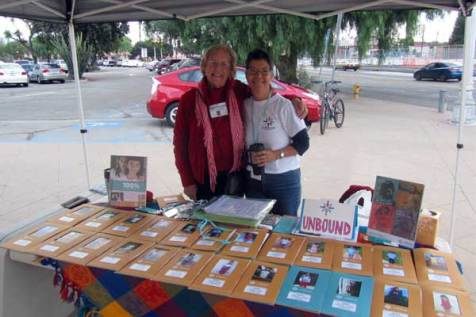 Elsa (right) and Colleen (left) worked together to share Unbound in their community.
