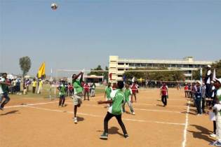 Volleyball was one of the many events offered for the sports day.