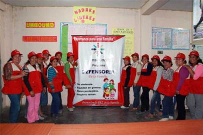 These moms in Peru are proud to be leaders in their community and speak out against violence in the home.