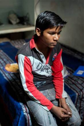 Manish, 14, is sponsored through Unbound in India.