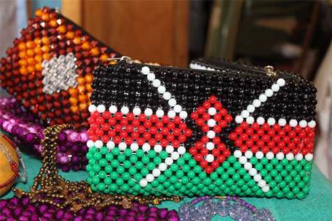 Teresia made this bag with the Kenyan flag for inspiration.