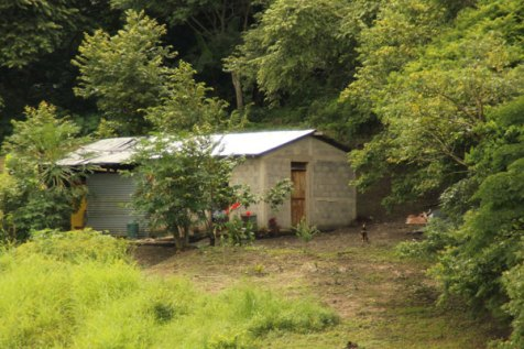 Beneranda's new home is nestled in the lush green landscape of Nicaragua.