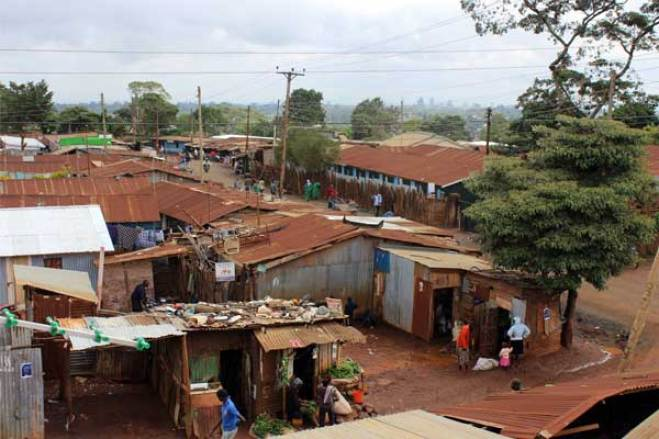 The Kangemi slum on the outskirts of Nairobi, where Pope Francis will visit.