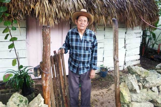 Antonio outside his home in Mexico.