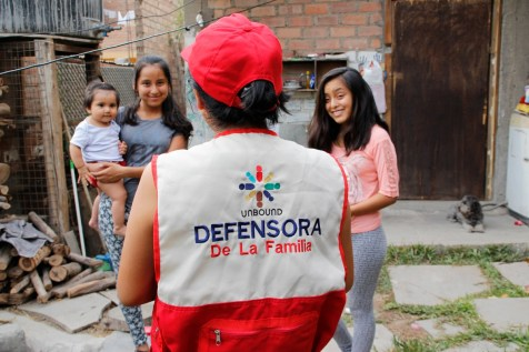 An image of Sonia wearing her Family Defense group vest.
