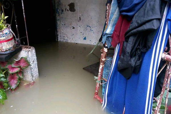 The home of a sponsored member after recent flooding in San Mateo, Rizal, Philippines.