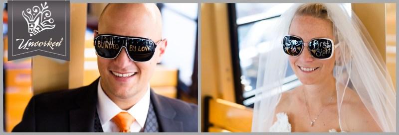 Custom First Look Sunglasses © 2013 Uncorked Studios, LLC - Destination & Philadelphia Pennsylvania Wedding Photographer