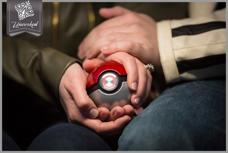 Pokemon inspired engagement session by Uncorked Studios at Villanova University in Philadelphia