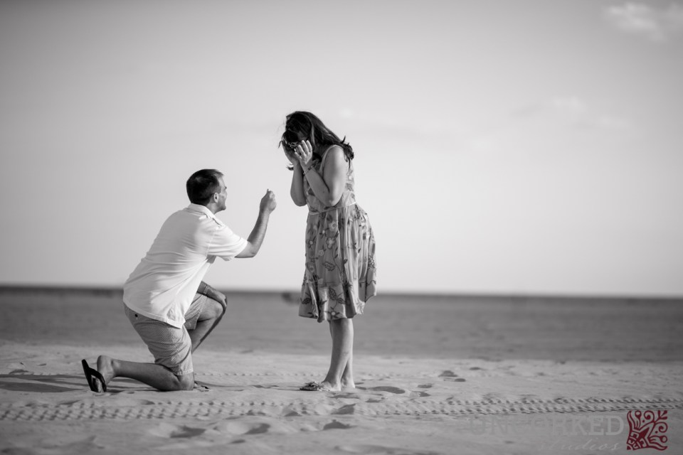Surprise Proposal in the sand