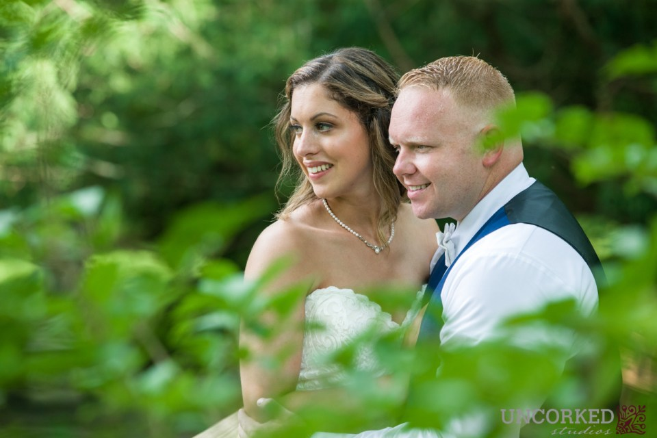 Bride and Groom at HollyHedge Estate