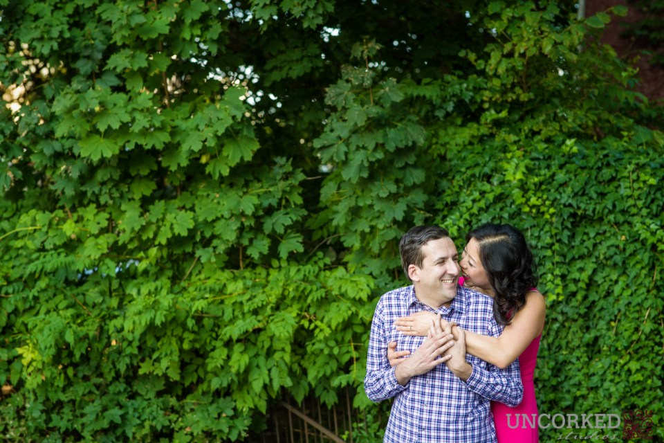 Phoenixville Engagement Session Ivy Wall