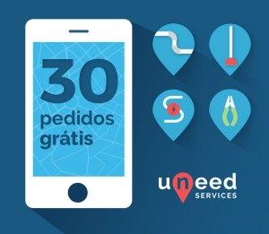 Uneed Services - 30 pedidos gratis