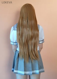 With braid off