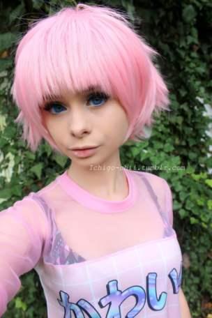 pink wig kirasagi