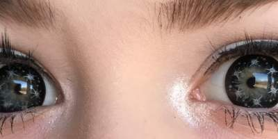 sweety twinkle grey lenses closeup
