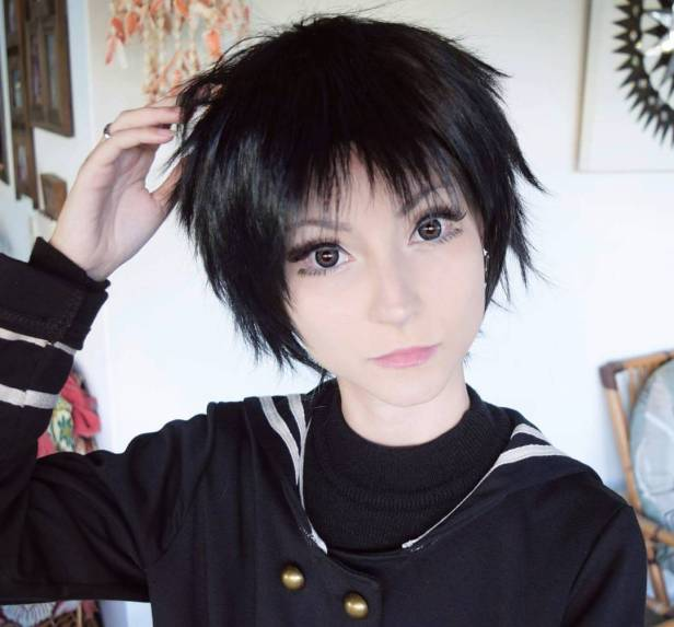 black wig