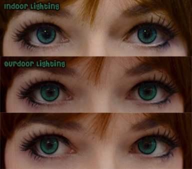 New Adult green closeup