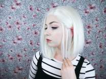 white pearl wig