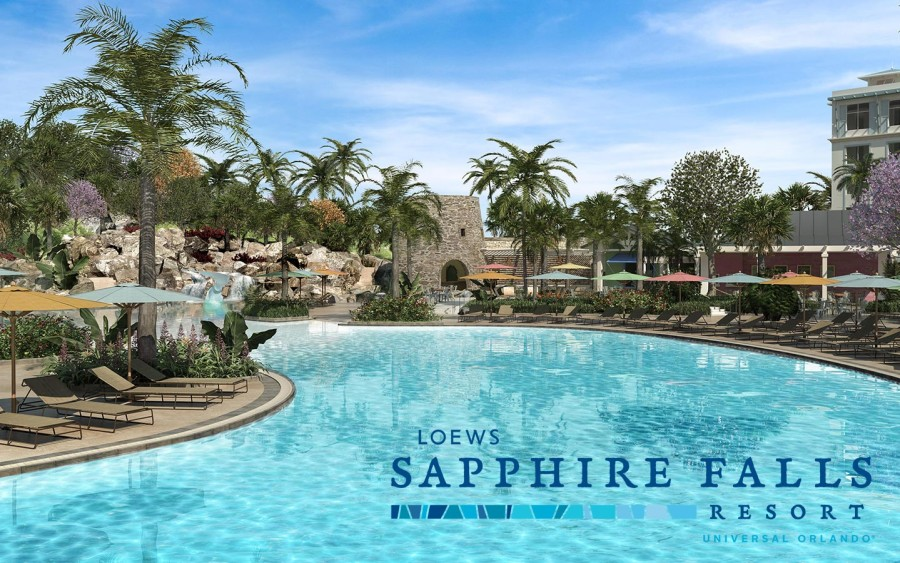 Relax at the largest on-site pool this summer at Loews Sapphire Falls Resort at Universal Orlando Resort