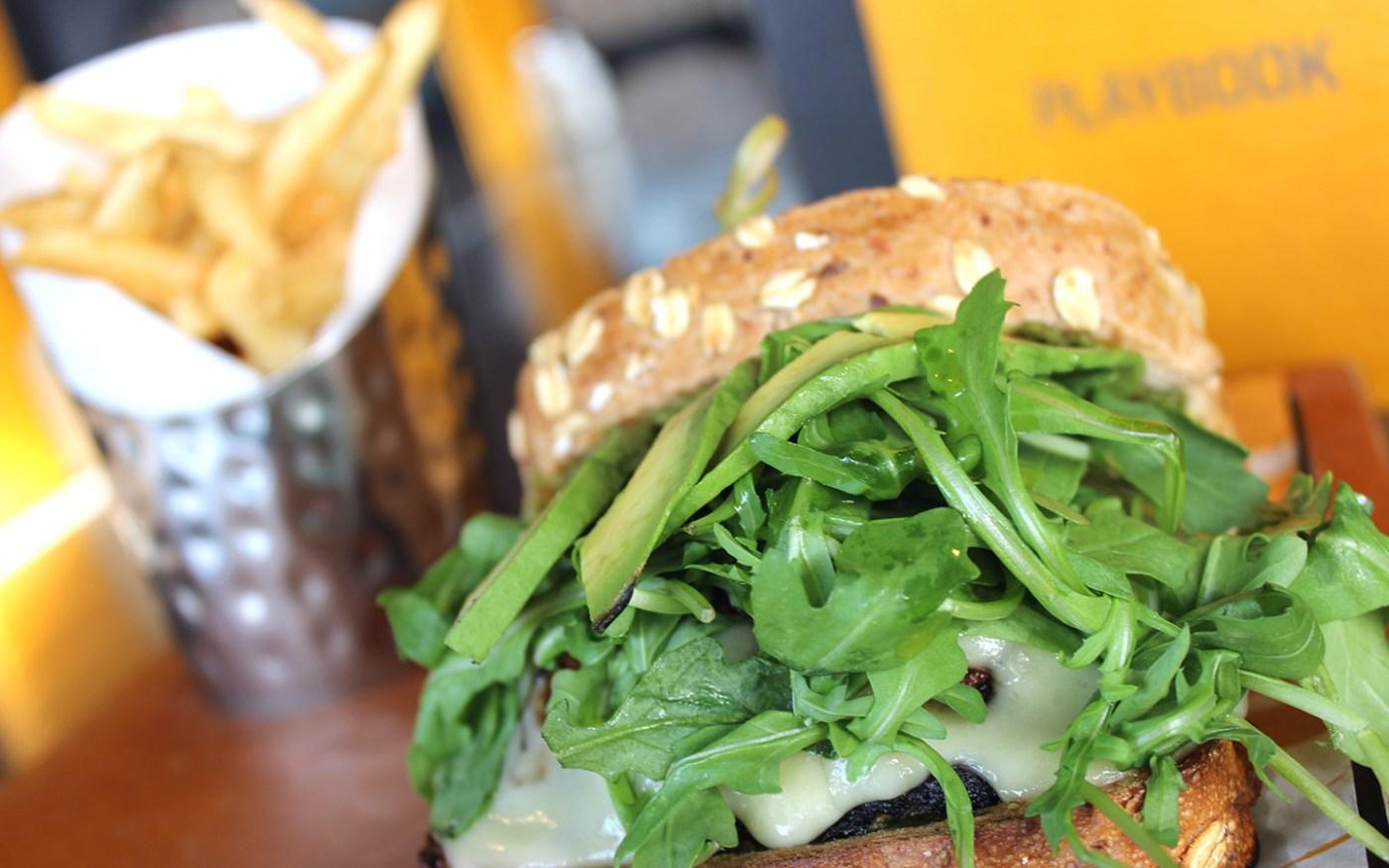 Portobello Sandwich from NBC Sports Grill & Brew in Universal CityWalk.
